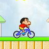 Shin Chan en bicicleta